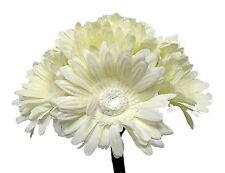 IVORY CREAM Gerbera Gerber Daisy Bridal Bouquet Silk Wedding Flowers Centerpiece