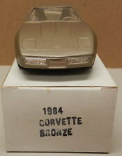 1984 84 BRONZE CHEVY CORVETTE VETTE DEALER NOS AMT MPC PROMO PROMOTIONAL