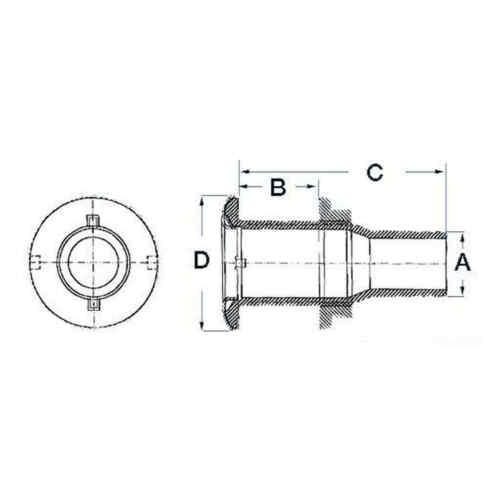 "Auspuff 1 /"" 1//2 Rückschlagventil 1 Stück Osculati 17.319.11-1731911"