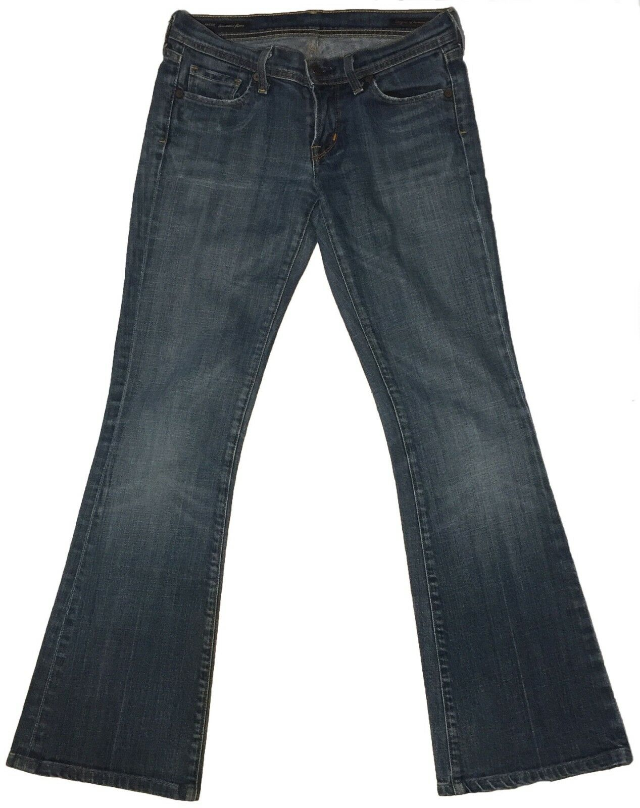 Citizen Of Humanity Ingrid Stretch Low Waist Flare bluee Women Jeans Size 26