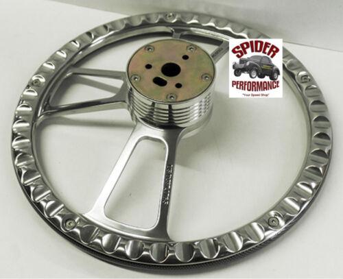 """1969-88 El Camino Monte Carlo steering wheel SS 14/"""" CARBON FIBER POLISHED BILLET"""