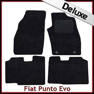 FIAT-PUNTO-EVO-2010-2012-Tailored-LUXURY-1300g-Carpet-Car-Floor-Mats-BLACK