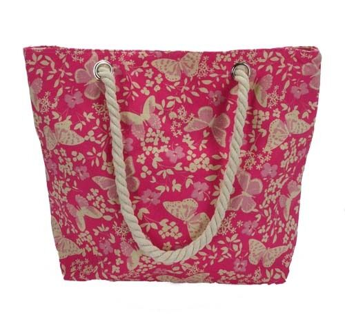 Plage Sac femme toile anses en corde shopping