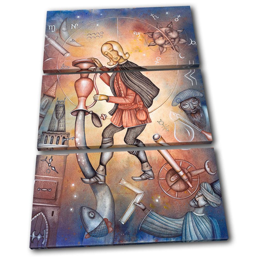 L'occasion n'est les pas là tous les n'est jours, lorsque le coup est tiré Zodiac Aquarius  Starsign TREBLE TOILE murale ART Photo Print 4886d1