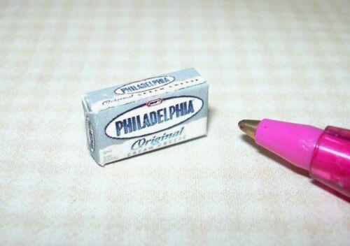 Miniature 8oz 1:12 Scale Brand for DOLLHOUSE Kitchen Cream Cheese Box