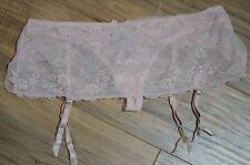 Victoria's Secret panty garter belt skirted garter $36 L pink ruffle crystal