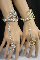 Women Scissors Bracelet Hand Chain Fashion Jewelry Slave Ring Gold Silver