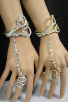 Women Scissors Bracelet Hand Chain Fashion Jewelry Slave Ring Gold Silver