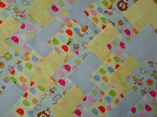 Tela de Algodón PATCHWORK CUADRADOS PIEZAS CHARM Pack 4 5 pulgadas ~ para niños 3
