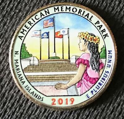 MARIANA ATB 3 COIN QUARTER SET 2019 P-D-S COLORIZED AMERICAN MEMORIAL PARK