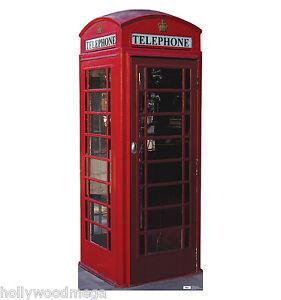 English Phone Booth Standup Cardboard Cutout #698 - 7012
