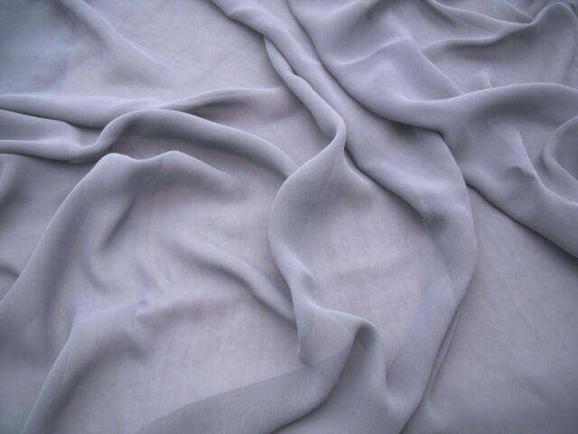 VISCOSE GEORGETTE  DRESS FABRIC-GREY -FREE P+P