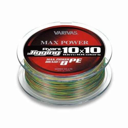 Varivas  Avani Jigging 10X10 Max Power PE X8 300m  6 85lb PE Trenzado línea  grandes ahorros