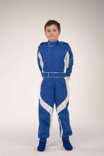 Größe 134 Kartanzug blau//weiß Kartoverall keep-racing® Cruiser Overall
