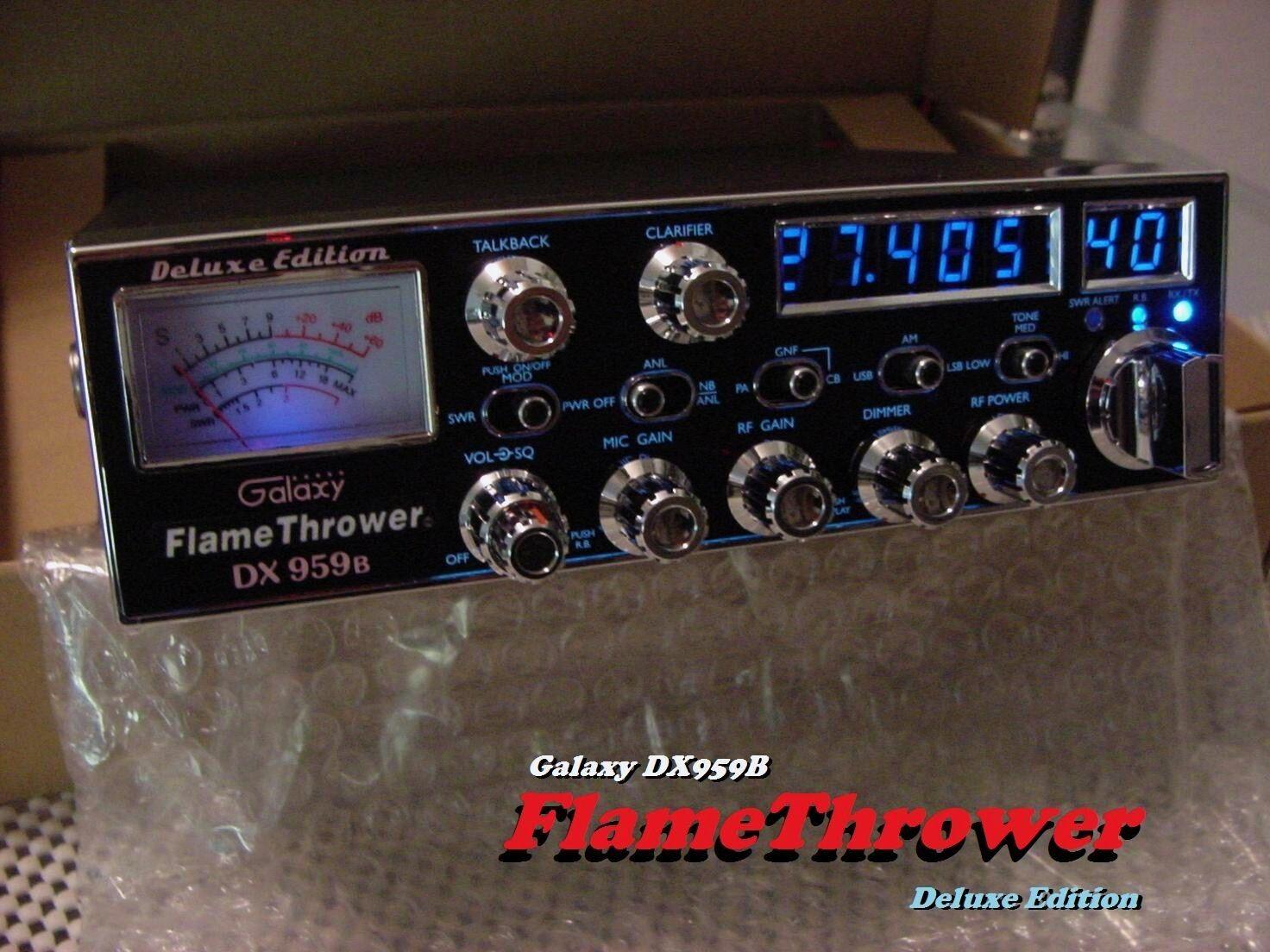 bri2294 Galaxy DX959B FLAMETHROWER Edition BLUE High Performance SSB/AM CB RADIO