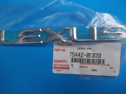GENUINE LEXUS RX350 LIFTGATE LEXUS EMBLEM 75442-0E020