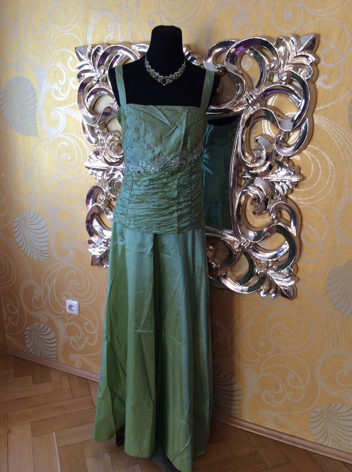 Abendkleid Ballkleid Brautkleid 2-Teiler in grün ( 472-473), Gr. 44 46 und 58 60