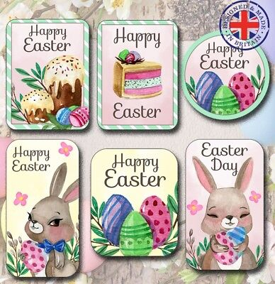 EAS4 24x Easter Bunny Egg Spring Chocolate Stickers//Labels//Craft//Cards