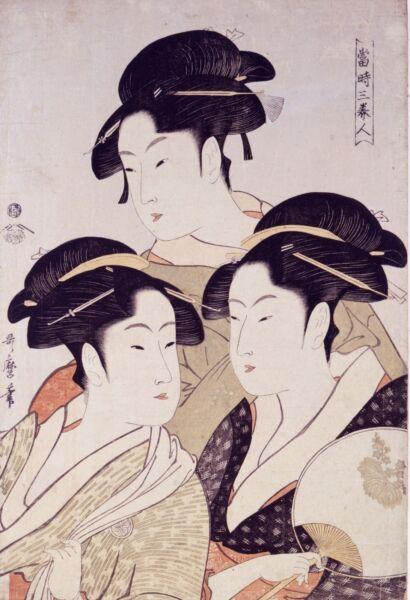15x10cm Art Sticker Japanese Woodblock Hiroshige Laptop Japan Beauties Retro Modieuze En Aantrekkelijke Pakketten