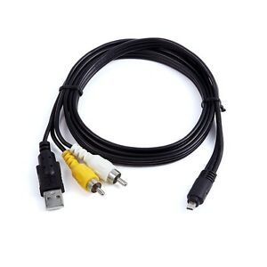 3in1 Usb Charger Data Av Tv Cable For Sony Cybershot Dsc
