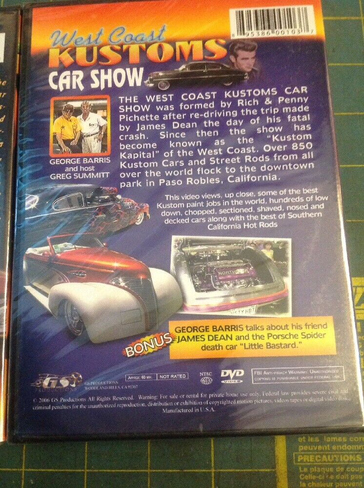 George Barris DVD/'s Car Show/'s 2//new Sealed