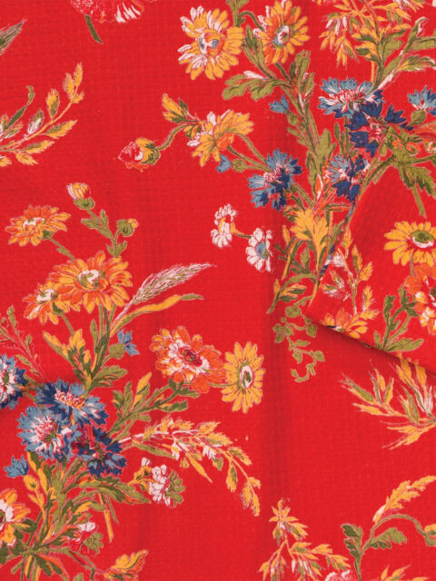 April Cornell Tea Towel Wildflowers in Brick Red NWT Dish Towel Kitchen Linens