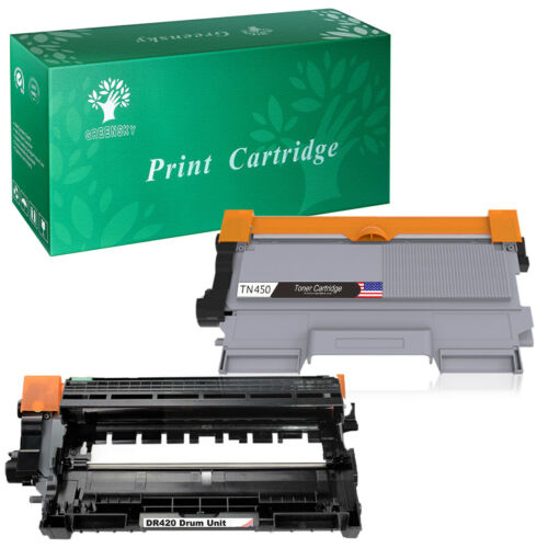 Toner or Drum DR420 TN450 Combo Lot for Brother MFC-7860DW 7360N 7240 DCP-7065DN