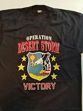 Vtg Victory Operation Desert Storm Forces 90s L T-Shirt Made in the USA A089