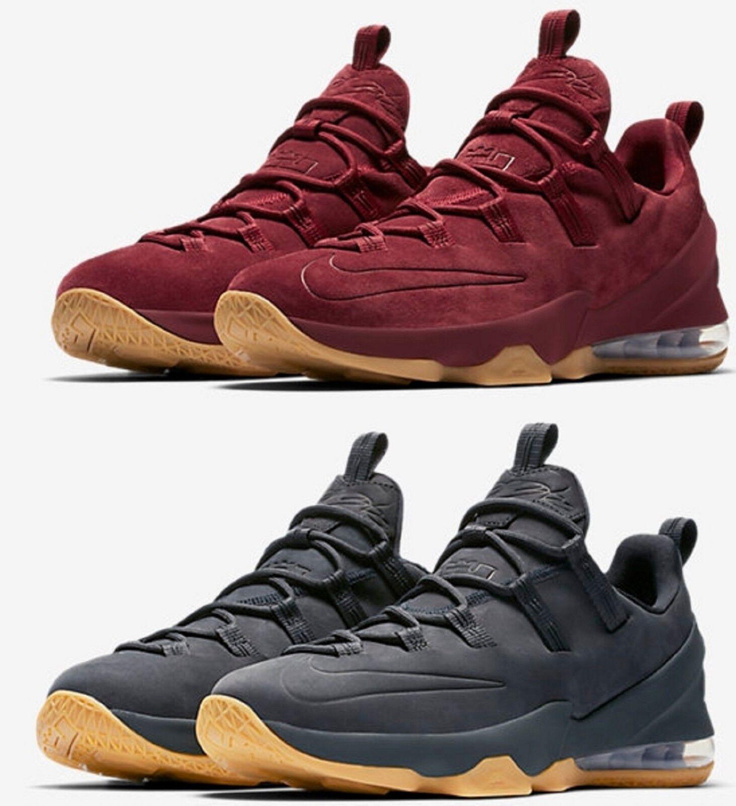 Nike lebron xiii 13 basso premio maschile di basket di squadra rossa le scarpe premio premio di antracite