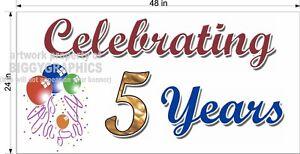 2-039-x-4-039-VINYL-BANNER-CELEBRATING-5-YEARS-ANNIVERSARY-SIGN