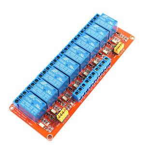 8-Kanal-12V-Relais-Modul-mit-Optokoppler-fuer-u-a-Arduino-8Ch-High-Low-Trigger