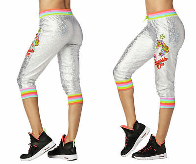 Zumba Believe In Magic Capri Sweatpants Iridescent Z1b00706 Products Are Sold Without Limitations Clothing, Shoes & Accessories