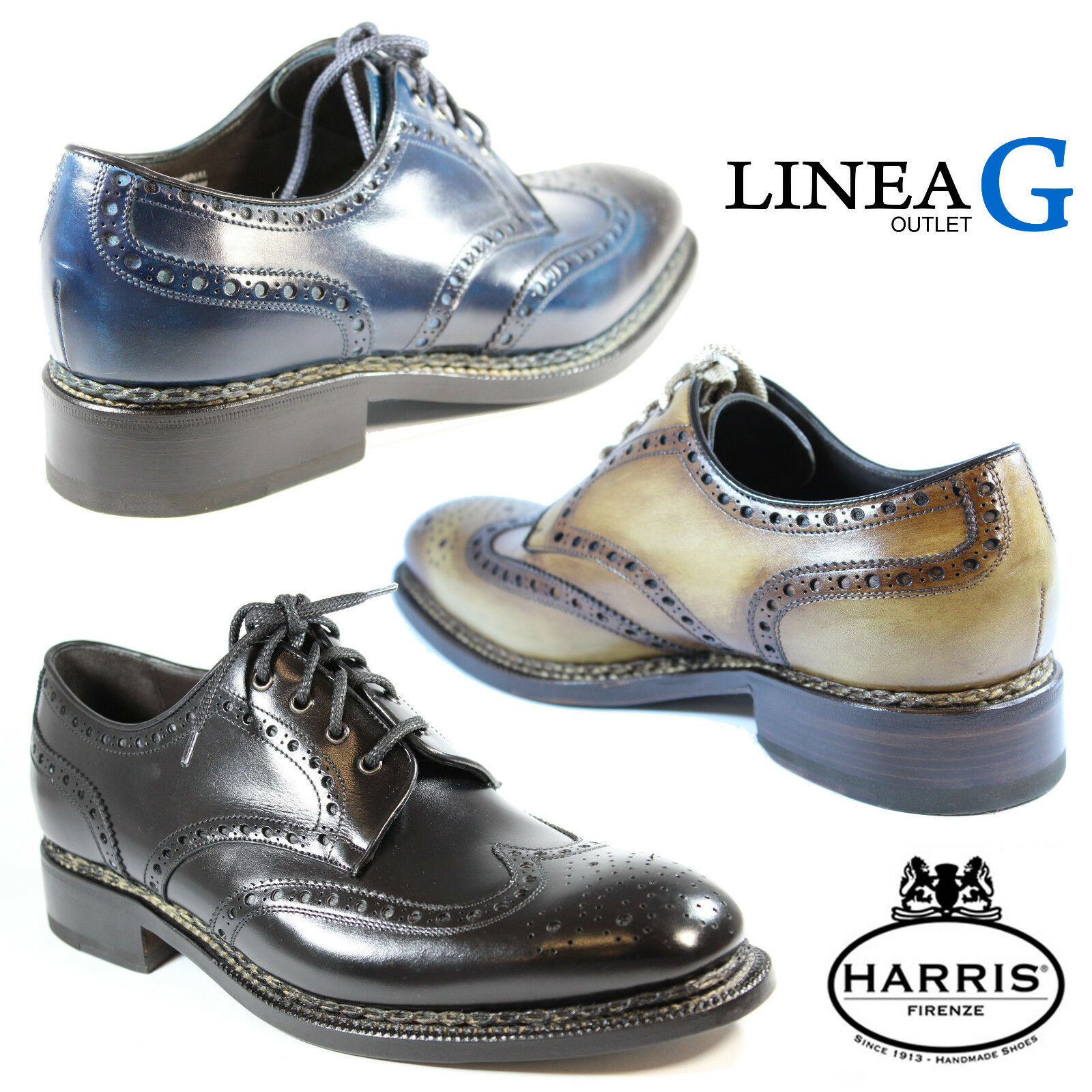 HARRIS leather derby schuhe schuhe stringate in pelle artigianali artigianali artigianali dc68f2