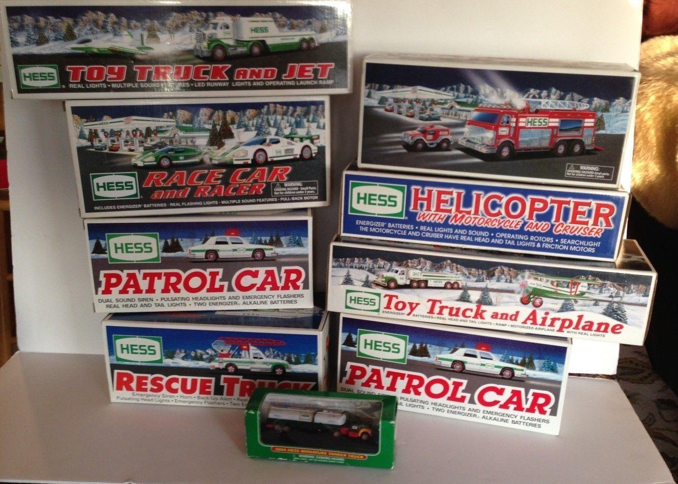 9 Nueva Colección hessJuguete truks, coches, helicóptero 1993 1994 2002 2004 2009 2010