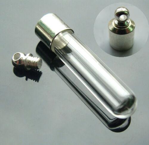 100 Flacons en verre pendentif wish Bouteille Collier Charme vis Wholesale Handcraft