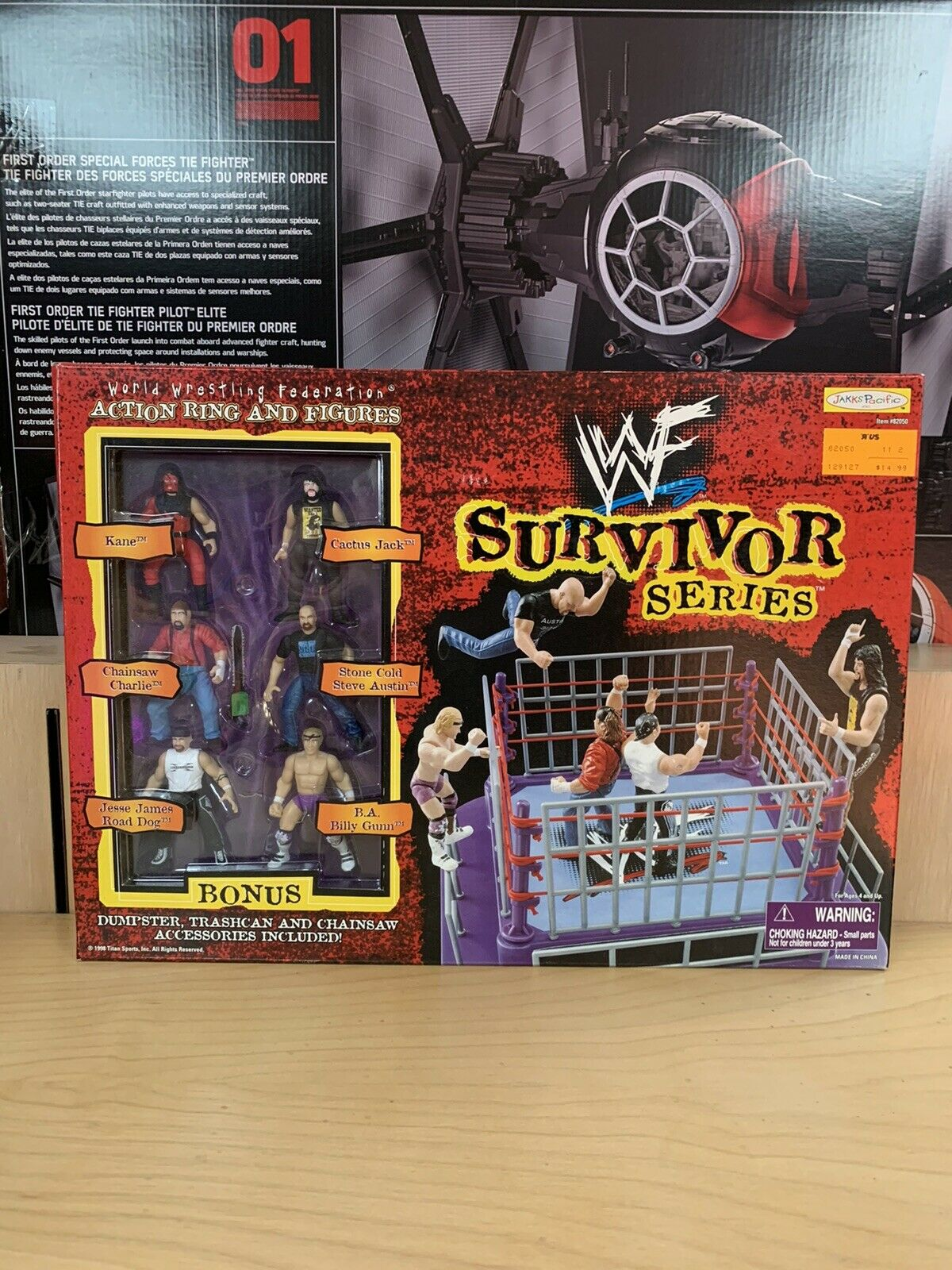 Jakks WWF WWE Action Ring Mini-Ring  Survivor Series (Near Mint)