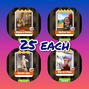 Mellow Lisa coin Master 25 Cards