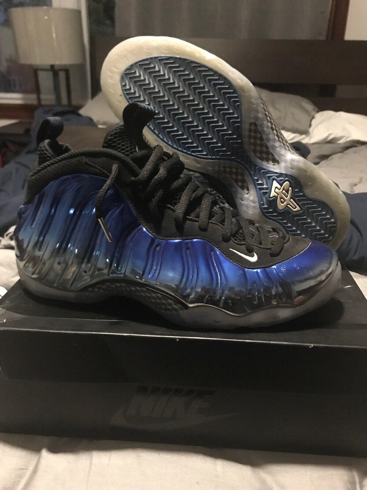 "4ba5884d1b261 Nike Air Foamposite One PRM ""Blue Mirror"" Size 10.5 Used"