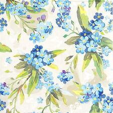 4x Flowers Blue Paper Napkins for Decoupage Decopatch Pretty