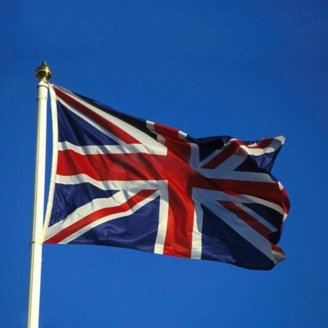 Flagseller Uk Bandiera Union Jack Con Crest 5ft x 3ft di alta qualità