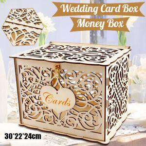 Wooden-Card-Box-with-Lock-Rustic-Wedding-Card-Storage-Box-Gift-Card-Holder-Box