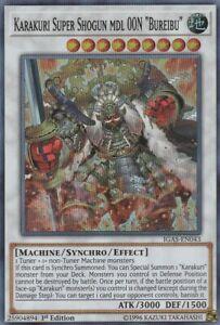 YUGIOH-HOLO-CARD-1-X-KARAKURI-SUPER-SHOGUN-MDL-OON-BUREIBU-IGAS-EN034-1ST-ED