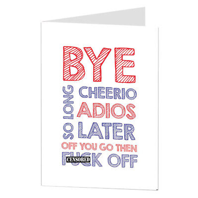 Drôle sarcasme laissant travail bureau carte bonne chance nouveau travail voyage retraite