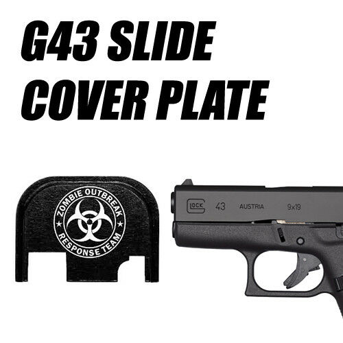 ZOMBIE RESPONSE TEAM BIO Replacement Slide Cover Plate for Glock G43
