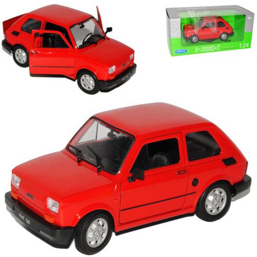 Fiat 126 rojo diseño idéntico Polski Fiat 126p 1972-2000 1//24 Welly modelo coche con Oda
