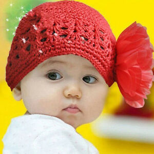 New-Fashion-Baby-Hat-3-to-24-Months-Baby-Hats-Knitted-With-Chiffon-Flowers
