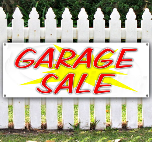 GARAGE SALE Advertising Vinyl Banner Flag Sign Many Sizes Available USA