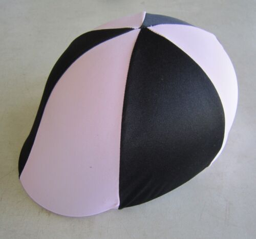 Horse Helmet Cover ALL AUSTRALIAN MADE Pale pink & Black Any size you need