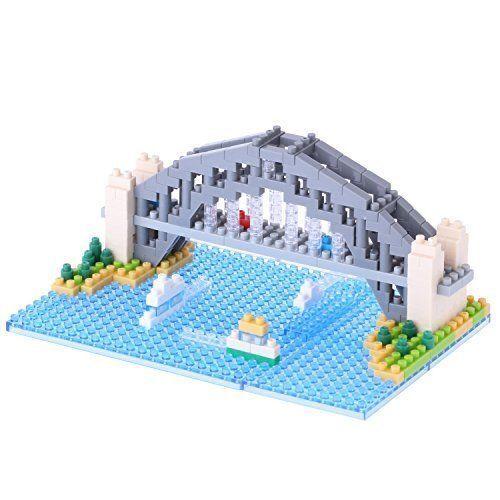 Sydney Harbour Bridge Nanoblock Miniature Building Blocks New Sealed Pk NBH 101