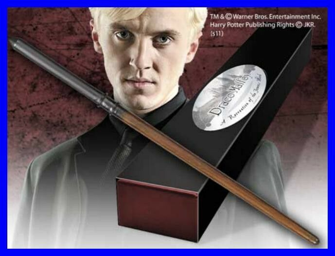 BACCHETTA Magica DRACO MALFOY Originale NOBLE COLLECTION COLLECTION COLLECTION Wand CHARACTER Potter 222416